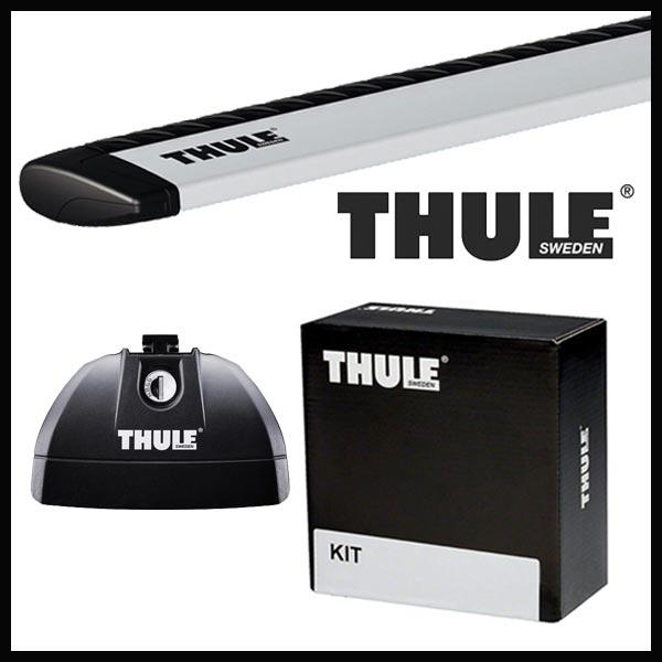 国内正規品5年保証付き 送料無料 THULE スーリー ボルボ V60クロスカントリー ダイレクトルーフレール付 11~ ルーフキャリア取付1台分セット TH753+TH7112+TH4021セット