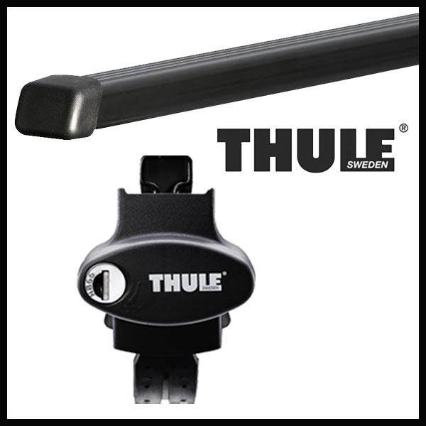 THULE スーリー メルセデス Mクラス (W166)ルーフレール付 166系 12~ ルーフキャリア取付セット TH757+TH7124セット