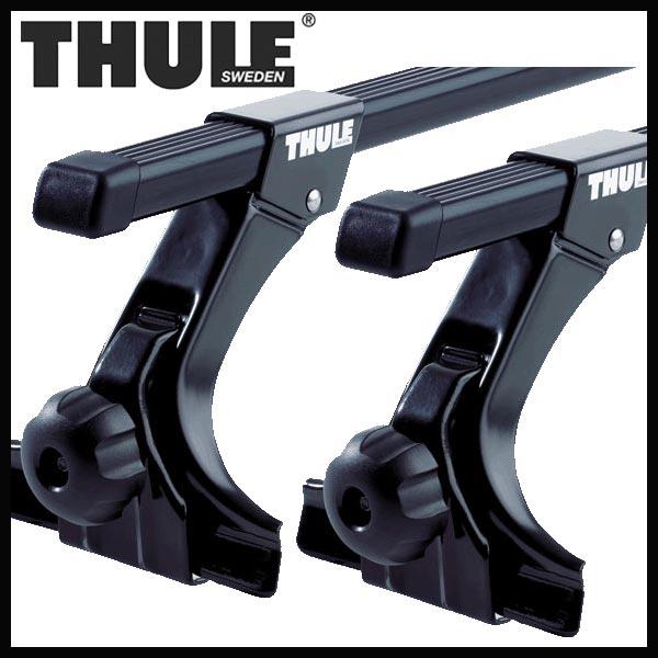 THULE スーリー ボルボ V90 ルーフレールなし 9B系 97~98 ルーフキャリア取付セット TH951+TH7124セット
