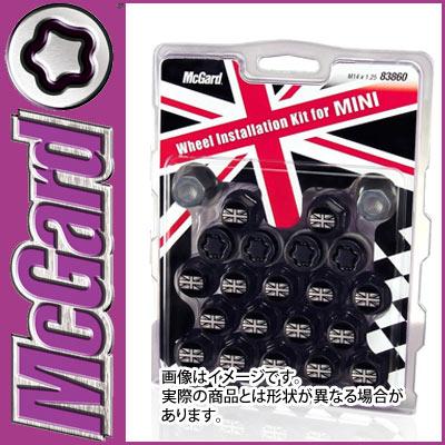【正規品】 マックガード(McGard) MCG-83860 ユニオンジャックボルトインストレーションキット(黒) M14×P1.25 17HEX テーパー MINI用 盗難防止ロックボルト