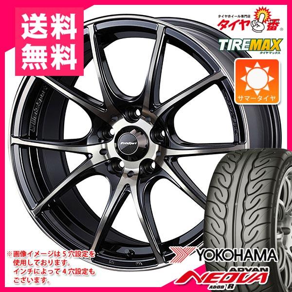 サマータイヤ205/50R1789WヨコハマアドバンネオバAD08R&ウェッズスポーツSA-10R7.0-17タイヤホイール4本セット