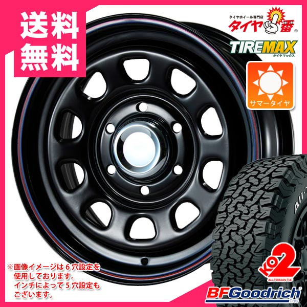 サマータイヤ 215/70R16 100/97R BFグッドリッチ オールテレーン T/A KO2 ホワイトレター デイトナ SS ブラック 7.0-16 タイヤホイール4本セット