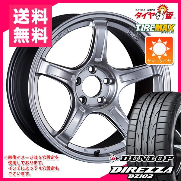 サマータイヤ 215/40R17 87W XL ダンロップ ディレッツァ DZ102 & SSR GTX03 7.0-17 タイヤホイール4本セット