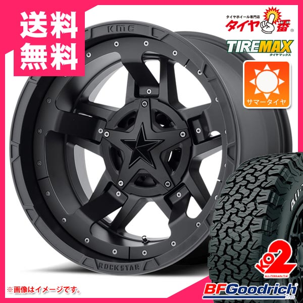 サマータイヤ 275/65R17 121/118S BFグッドリッチ オールテレーン T/A KO2 ホワイトレター KMC XD827 ロックスター3 8.0-17 タイヤホイール4本セット