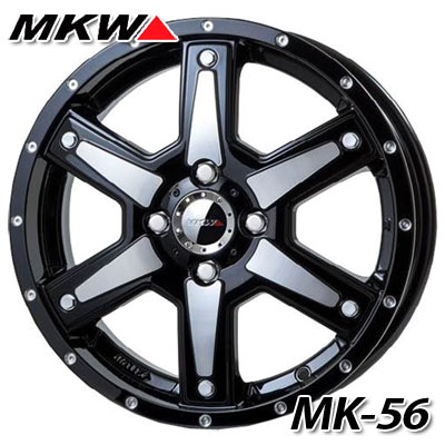 MK-56 MMB 4.5-15 ホイール1本 MK-56 Milled MachineBlack 軽カー専用