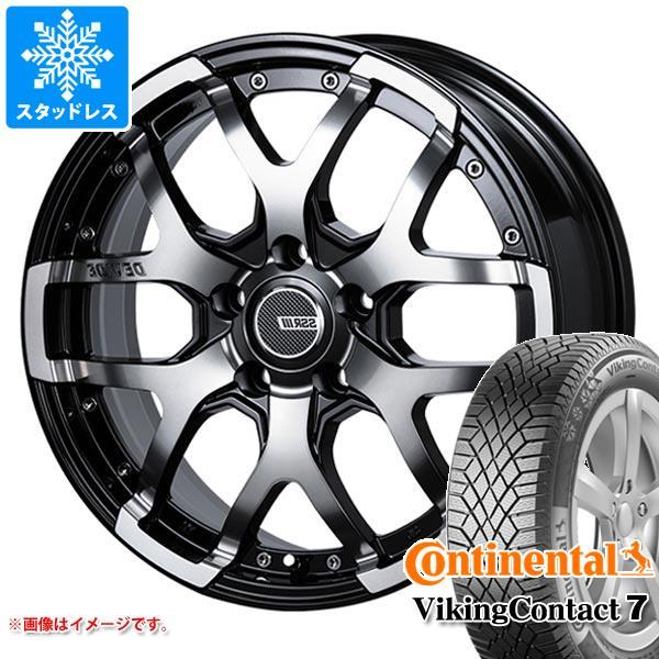 スタッドレスタイヤ コンチネンタル バイキングコンタクト7 215/70R16 100T & SSR ディバイド ZS 7.0-16 タイヤホイール4本セット 215/70-16 CONTINENTAL VikingContact 7:タイヤマックス