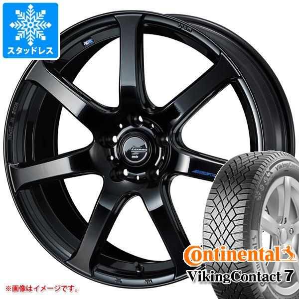 スタッドレスタイヤ コンチネンタル バイキングコンタクト7 225/45R17 94T XL & レオニス ナヴィア 07 7.0-17 タイヤホイール4本セット 225/45-17 CONTINENTAL VikingContact 7