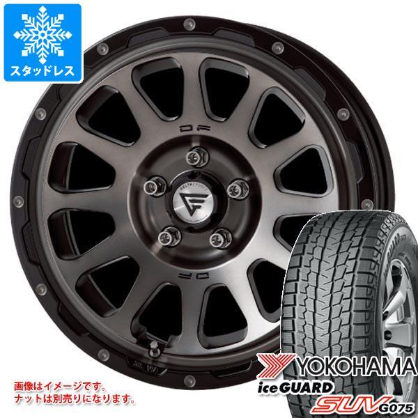 スタッドレスタイヤ ヨコハマ アイスガード SUV G075 265/70R17 115Q & デルタフォース オーバル 8.0-17 タイヤホイール4本セット 265/70-17 YOKOHAMA iceGUARD SUV G075