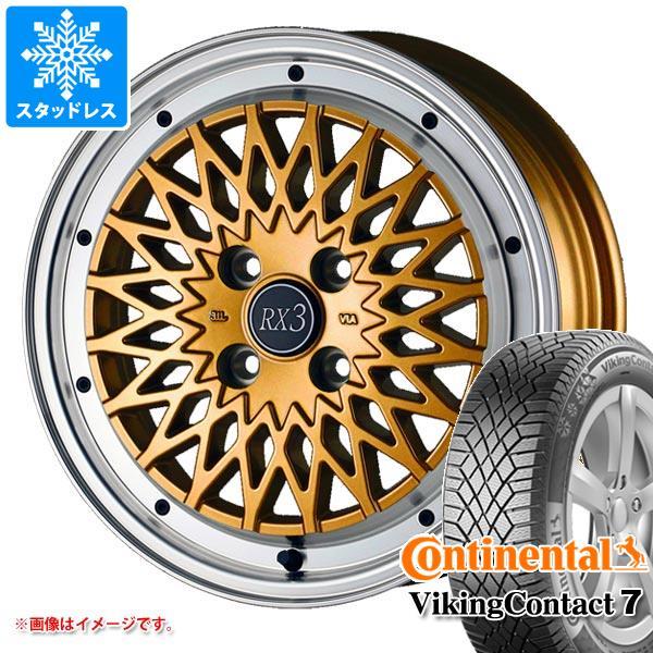 スタッドレスタイヤ コンチネンタル バイキングコンタクト7 165/60R15 81T XL & ドゥオール フェニーチェ RX3 5.0-15 タイヤホイール4本セット 165/60-15 CONTINENTAL VikingContact 7