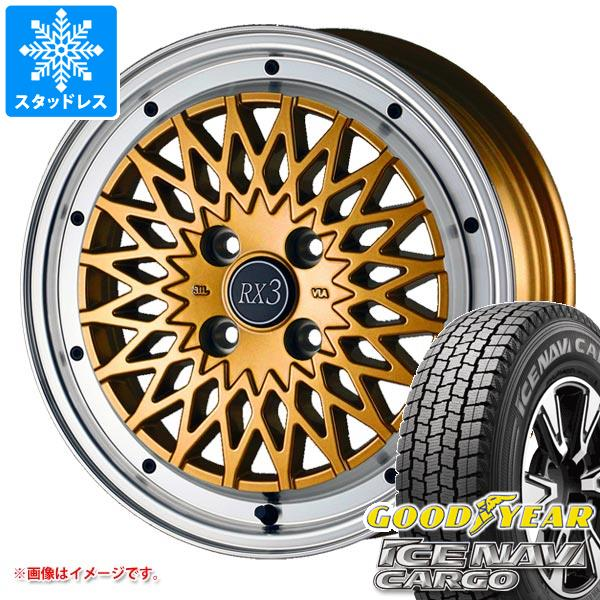 スタッドレスタイヤ グッドイヤー アイスナビカーゴ 145R12 8PR (145/80R12 86/84N相当) & ドゥオール フェニーチェ RX3 4.0-12 タイヤホイール4本セット 145-12 GOODYEAR ICE NAVI CARGO