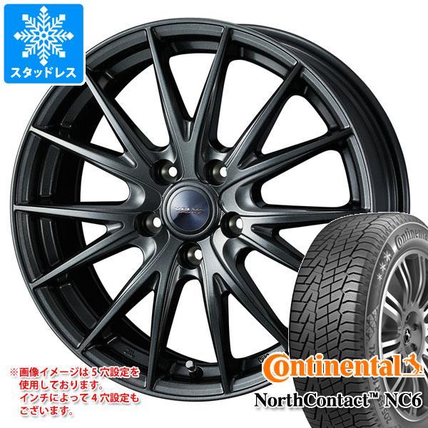 スタッドレスタイヤ コンチネンタル ノースコンタクト NC6 205/50R17 93T XL & ヴェルヴァ スポルト2 7.0-17 タイヤホイール4本セット 205/50-17 CONTINENTAL NorthContact NC6