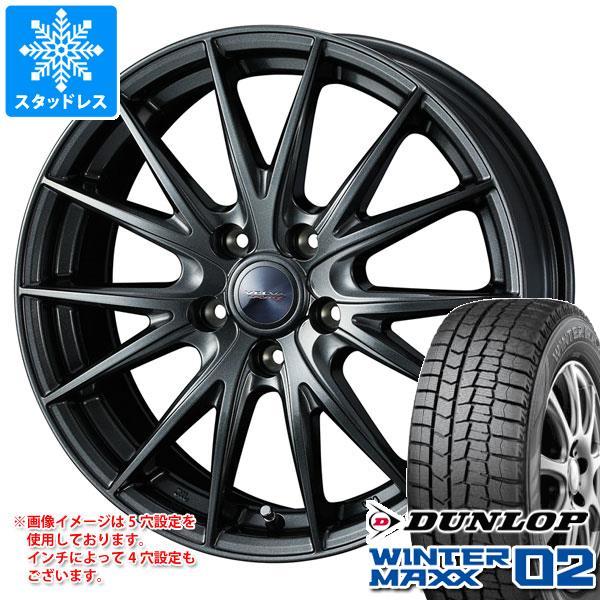 スタッドレスタイヤ ダンロップ ウインターマックス02 WM02 175/65R15 84Q & ヴェルヴァ スポルト2 5.5-15 タイヤホイール4本セット 175/65-15 DUNLOP WINTER MAXX 02 WM02