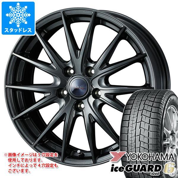 スタッドレスタイヤ ヨコハマ アイスガードシックス iG60 155/55R14 69Q & ヴェルヴァ スポルト2 4.5-14 タイヤホイール4本セット 155/55-14 YOKOHAMA iceGUARD 6 iG60