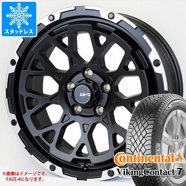 スタッドレスタイヤ コンチネンタル バイキングコンタクト7 225/65R17 106T XL & エアージー ロックス 7.0-17 タイヤホイール4本セット 225/65-17 CONTINENTAL VikingContact 7