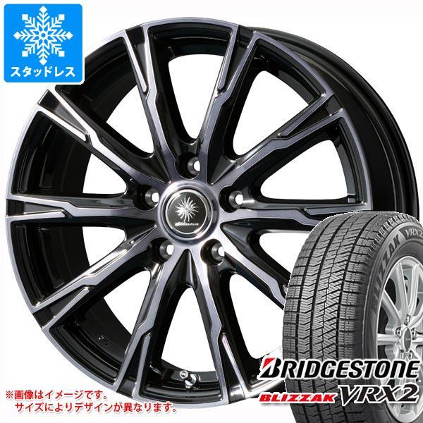 スタッドレスタイヤ ブリヂストン ブリザック VRX2 225/60R17 99Q & ディルーチェ DX10 7.0-17 タイヤホイール4本セット 225/60-17 BRIDGESTONE BLIZZAK VRX2