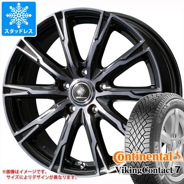 スタッドレスタイヤ コンチネンタル バイキングコンタクト7 185/60R15 88T XL & ディルーチェ DX10 タイヤホイール4本セット 185/60-15 CONTINENTAL VikingContact 7