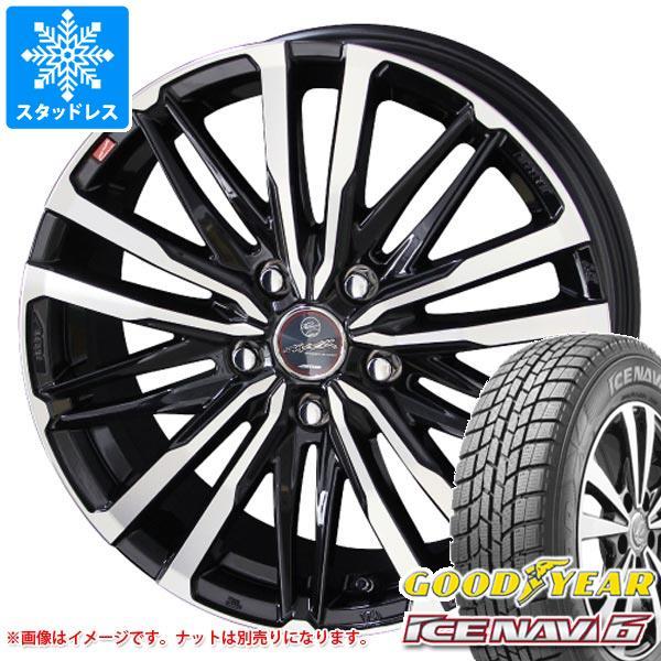 2020年製 スタッドレスタイヤ グッドイヤー アイスナビ6 205/65R16 95Q & スマック クレスト 6.5-16 タイヤホイール4本セット 205/65-16 GOODYEAR ICE NAVI 6