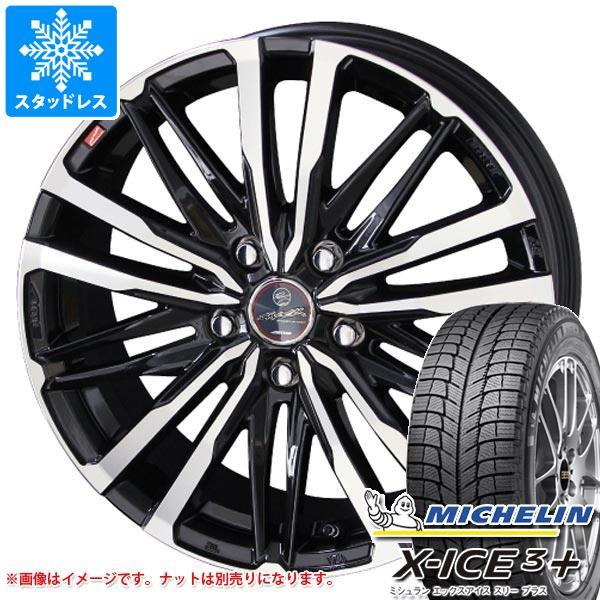 スタッドレスタイヤ ミシュラン エックスアイス3プラス 225/45R18 95H XL & スマック クレスト 8.0-18 タイヤホイール4本セット 225/45-18 MICHELIN X-ICE3+