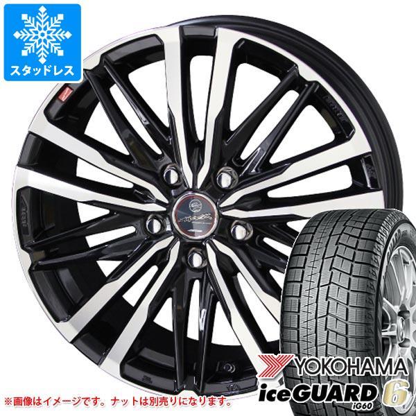 スタッドレスタイヤ ヨコハマ アイスガードシックス iG60 225/50R18 95Q & スマック クレスト 7.0-18 タイヤホイール4本セット 225/50-18 YOKOHAMA iceGUARD 6 iG60