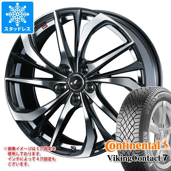 スタッドレスタイヤ コンチネンタル バイキングコンタクト7 225/45R17 94T XL & レオニス TE 7.0-17 タイヤホイール4本セット 225/45-17 CONTINENTAL VikingContact 7:タイヤマックス