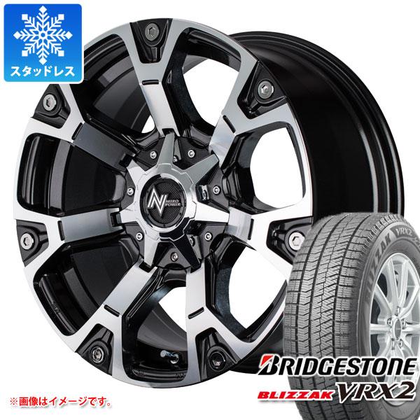 スタッドレスタイヤ ブリヂストン ブリザック VRX2 225/55R17 97Q & ナイトロパワー ウォーヘッド 7.0-17 タイヤホイール4本セット 225/55-17 BRIDGESTONE BLIZZAK VRX2