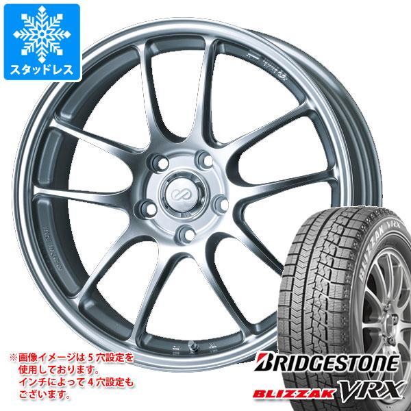 スタッドレスタイヤ ブリヂストン ブリザック VRX 175/60R16 82Q & ENKEI エンケイ パフォーマンスライン PF01 6.5-16 タイヤホイール4本セット 175/60-16 BRIDGESTONE BLIZZAK VRX