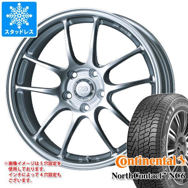 スタッドレスタイヤ コンチネンタル ノースコンタクト NC6 235/50R18 101T XL & ENKEI エンケイ パフォーマンスライン PF01 7.5-18 タイヤホイール4本セット 235/50-18 CONTINENTAL NorthContact NC6
