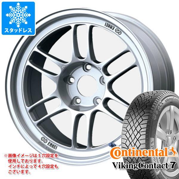 スタッドレスタイヤ コンチネンタル バイキングコンタクト7 245/40R18 97T XL & ENKEI エンケイ レーシング RPF1 8.5-18 タイヤホイール4本セット 245/40-18 CONTINENTAL VikingContact 7