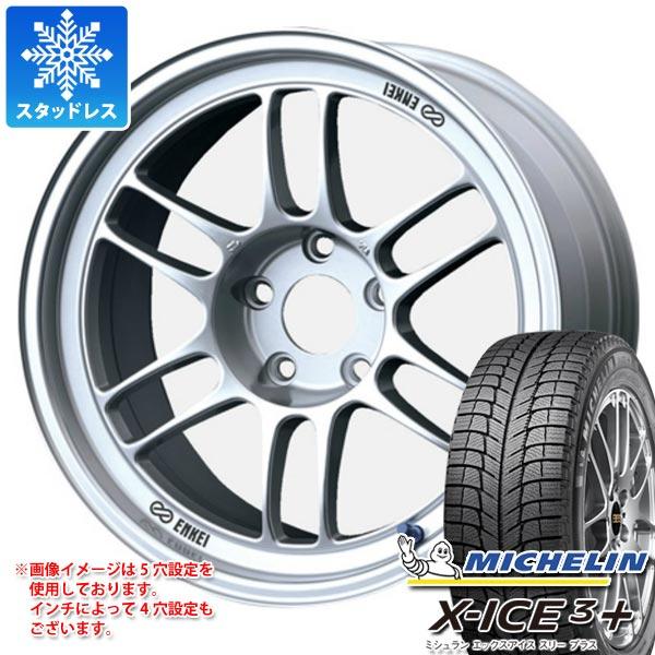スタッドレスタイヤ ミシュラン エックスアイス3プラス 225/55R18 98H & ENKEI エンケイ レーシング RPF1 7.5-18 タイヤホイール4本セット 225/55-18 MICHELIN X-ICE3+