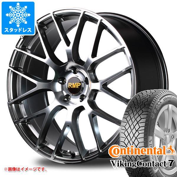 スタッドレスタイヤ コンチネンタル バイキングコンタクト7 245/50R18 104T XL & RMP 028F 8.0-18 タイヤホイール4本セット 245/50-18 CONTINENTAL VikingContact 7