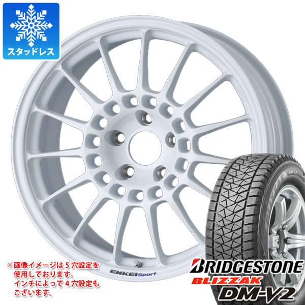 スタッドレスタイヤ ブリヂストン ブリザック DM-V2 225/60R18 100Q & ENKEI エンケイスポーツ RC-T5 8.0-18 タイヤホイール4本セット 225/60-18 BRIDGESTONE BLIZZAK DM-V2