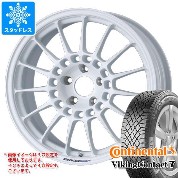 スタッドレスタイヤ コンチネンタル バイキングコンタクト7 235/50R18 101T XL & ENKEI エンケイスポーツ RC-T5 8.5-18 タイヤホイール4本セット 235/50-18 CONTINENTAL VikingContact 7