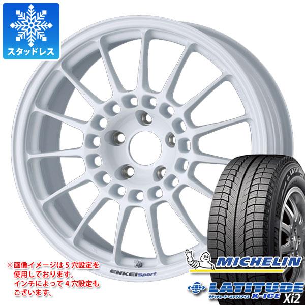 スタッドレスタイヤ ミシュラン ラティチュード エックスアイス XI2 235/65R17 108T XL & ENKEI エンケイスポーツ RC-T5 8.0-17 タイヤホイール4本セット 235/65-17 MICHELIN LATITUDE X-ICE XI2
