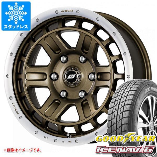 スタッドレスタイヤ グッドイヤー アイスナビ6 215/60R16 95Q & クラッグ T-グラビック 2 7.0-16 タイヤホイール4本セット 215/60-16 GOODYEAR ICE NAVI 6