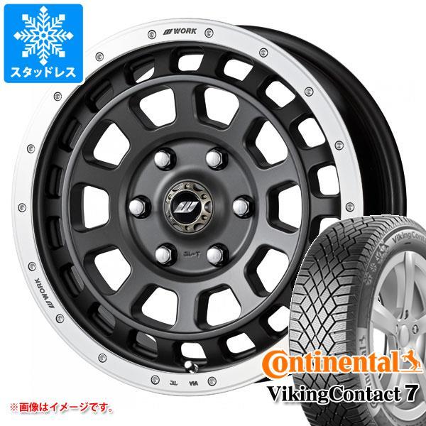 スタッドレスタイヤ コンチネンタル バイキングコンタクト7 235/65R17 108T XL & ワーク クラッグ T-グラビック 7.0-17 タイヤホイール4本セット 235/65-17 CONTINENTAL VikingContact 7