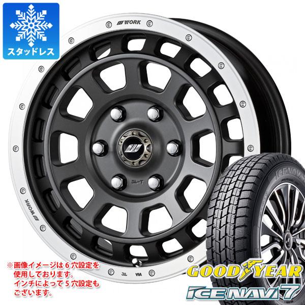 スタッドレスタイヤ グッドイヤー アイスナビ7 205/65R16 95Q & ワーク クラッグ T-グラビック 7.0-16 タイヤホイール4本セット 205/65-16 GOODYEAR ICE NAVI 7