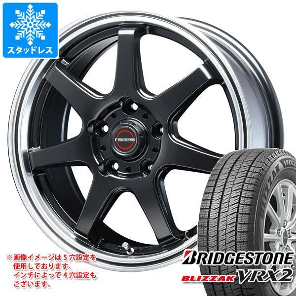 スタッドレスタイヤ ブリヂストン ブリザック VRX2 175/65R14 82Q & ブレスト ユーロマジック タイプ S-07 5.5-14 タイヤホイール4本セット 175/65-14 BRIDGESTONE BLIZZAK VRX2