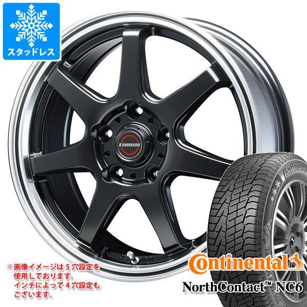 スタッドレスタイヤ コンチネンタル ノースコンタクト NC6 215/60R17 96T & ブレスト ユーロマジック タイプ S-07 7.5-17 タイヤホイール4本セット 215/60-17 CONTINENTAL NorthContact NC6