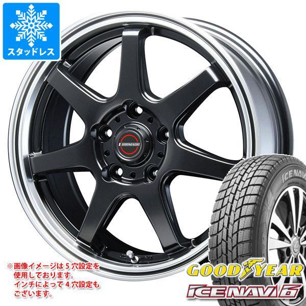 スタッドレスタイヤ グッドイヤー アイスナビ6 205/65R16 95Q & ブレスト ユーロマジック タイプ S-07 6.5-16 タイヤホイール4本セット 205/65-16 GOODYEAR ICE NAVI 6
