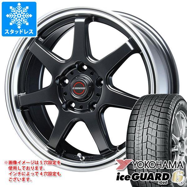 スタッドレスタイヤ ヨコハマ アイスガードシックス iG60 185/60R14 82Q & ブレスト ユーロマジック タイプ S-07 5.5-14 タイヤホイール4本セット 185/60-14 YOKOHAMA iceGUARD 6 iG60