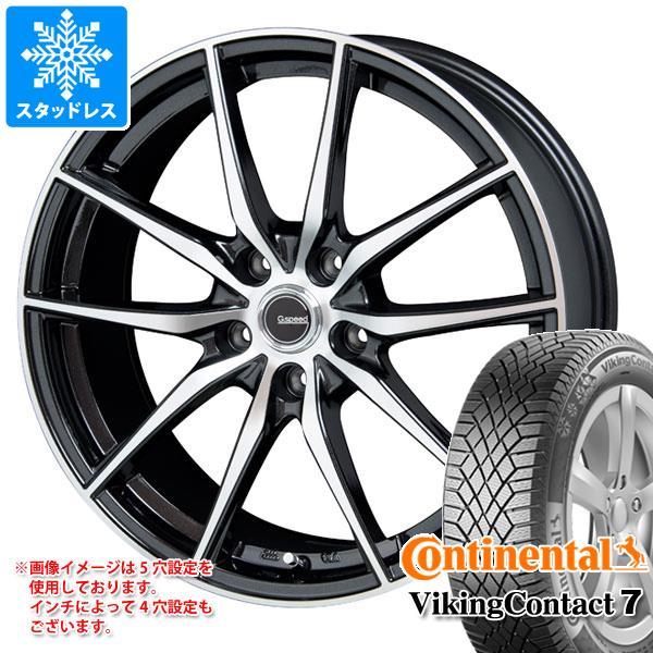 スタッドレスタイヤ コンチネンタル バイキングコンタクト7 185/60R15 88T XL & ジースピード P-02 タイヤホイール4本セット 185/60-15 CONTINENTAL VikingContact 7