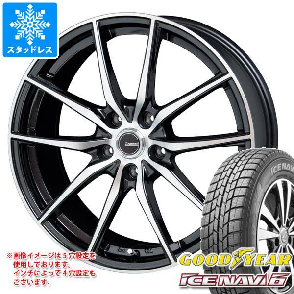スタッドレスタイヤ グッドイヤー アイスナビ6 215/60R17 96Q & ジースピード P-02 7.0-17 タイヤホイール4本セット 215/60-17 GOODYEAR ICE NAVI 6