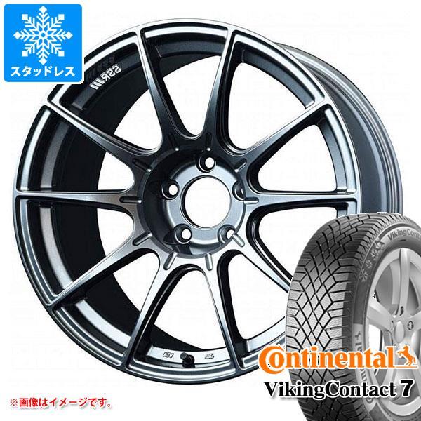 スタッドレスタイヤ コンチネンタル バイキングコンタクト7 225/55R17 101T XL & SSR GTX01 8.0-17 タイヤホイール4本セット 225/55-17 CONTINENTAL VikingContact 7