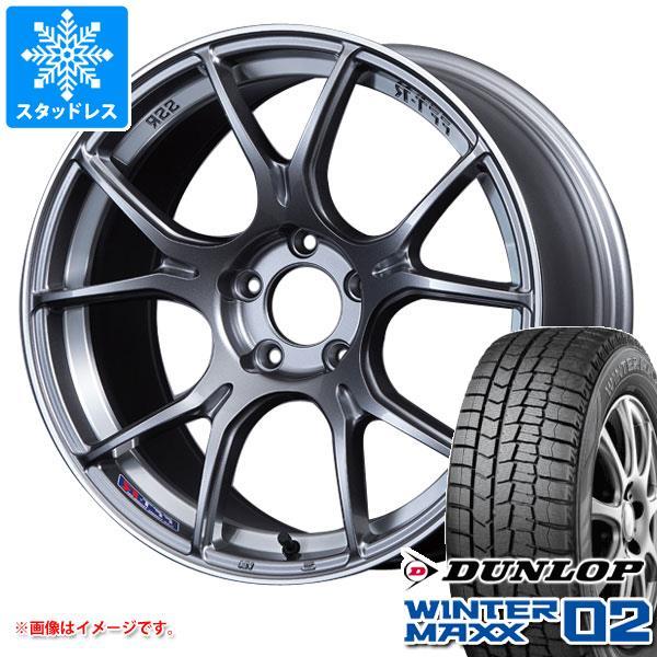 スタッドレスタイヤ ダンロップ ウインターマックス02 WM02 175/60R16 82Q & SSR GTX02 6.5-16 タイヤホイール4本セット 175/60-16 DUNLOP WINTER MAXX 02 WM02