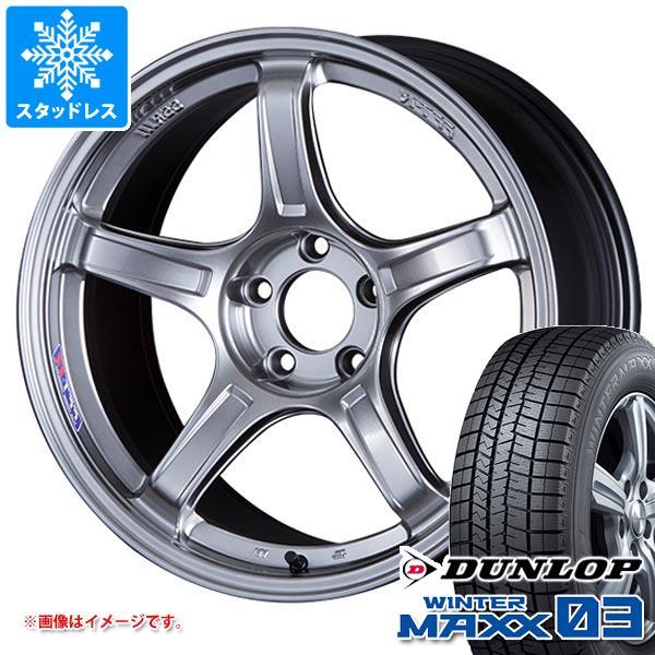 スタッドレスタイヤ ダンロップ ウインターマックス03 WM03 215/55R18 95Q 2020年10月発売サイズ & SSR GTX03 7.5-18 タイヤホイール4本セット 215/55-18 DUNLOP WINTER MAXX 03 WM03
