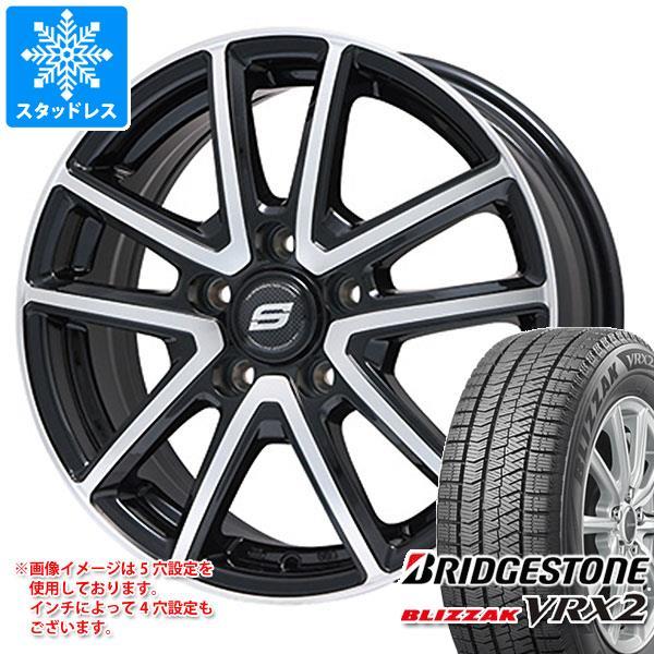 スタッドレスタイヤ ブリヂストン ブリザック VRX2 215/60R16 95Q & ホライズン ブラックポリッシュ 6.5-16 タイヤホイール4本セット 215/60-16 BRIDGESTONE BLIZZAK VRX2