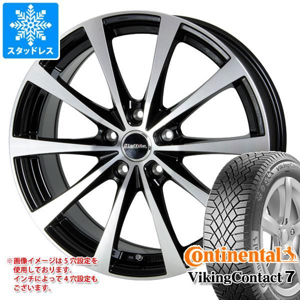 スタッドレスタイヤ コンチネンタル バイキングコンタクト7 195/55R16 91T XL & ラフィット LE-03 6.5-16 タイヤホイール4本セット 195/55-16 CONTINENTAL VikingContact 7