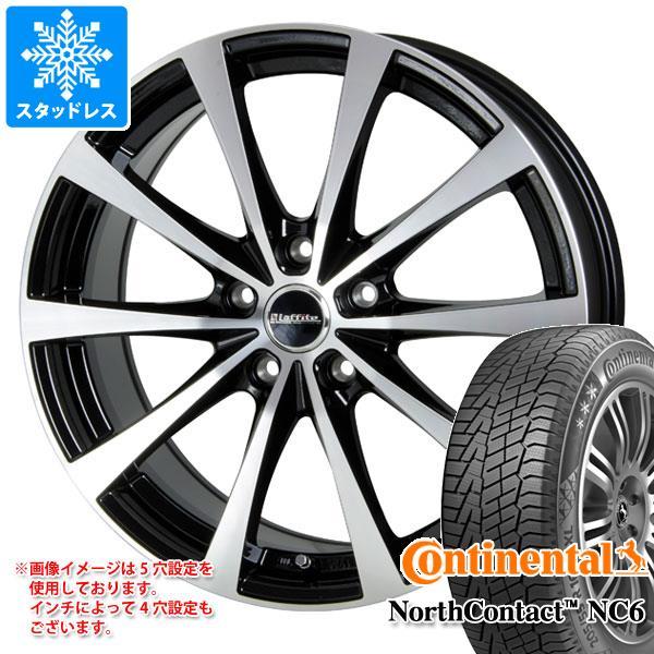 スタッドレスタイヤ コンチネンタル ノースコンタクト NC6 205/50R17 93T XL & ラフィット LE-03 7.0-17 タイヤホイール4本セット 205/50-17 CONTINENTAL NorthContact NC6