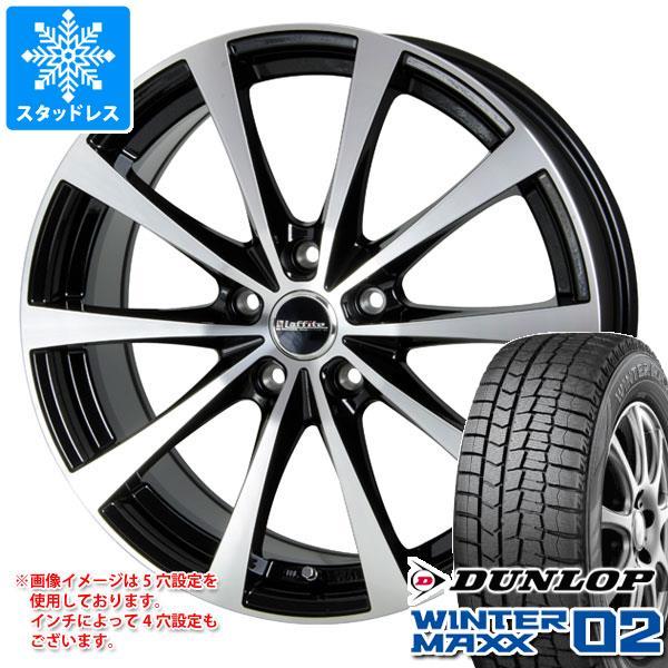 スタッドレスタイヤ ダンロップ ウインターマックス02 WM02 155/65R14 75Q & ラフィット LE-03 4.5-14 タイヤホイール4本セット 155/65-14 DUNLOP WINTER MAXX 02 WM02