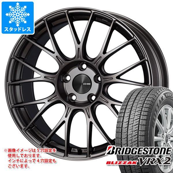 スタッドレスタイヤ ブリヂストン ブリザック VRX2 205/55R17 91Q & ENKEI エンケイ パフォーマンスライン PFM1 7.0-17 タイヤホイール4本セット 205/55-17 BRIDGESTONE BLIZZAK VRX2
